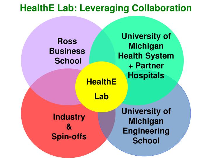 HealthE Lab: Leveraging Collaboration