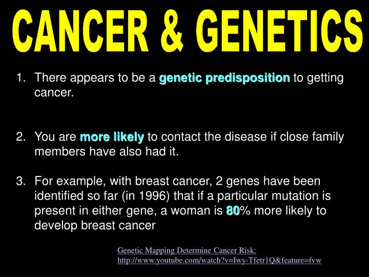 CANCER & GENETICS