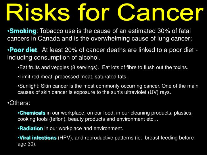Risks for Cancer