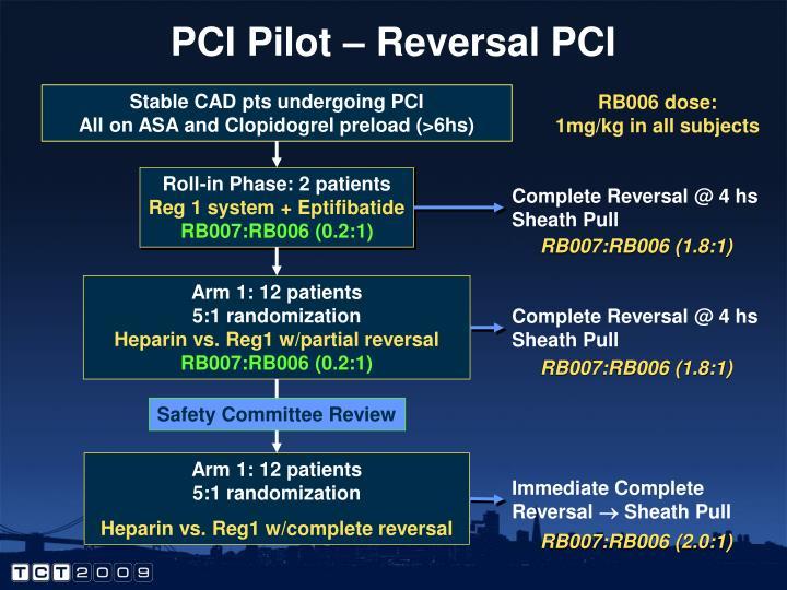 PCI Pilot – Reversal PCI