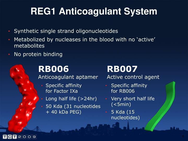 REG1 Anticoagulant System
