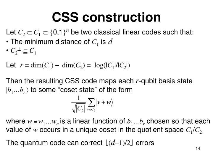 CSS construction