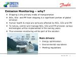 emission monitoring why