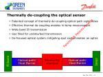 thermally de coupling the optical sensor