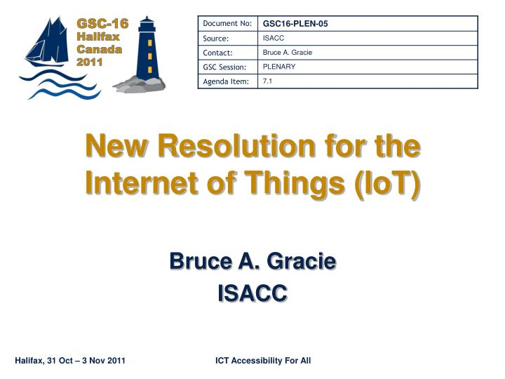 new resolution for the internet of things iot