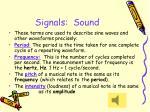 signals sound