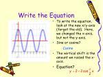 write the equation1