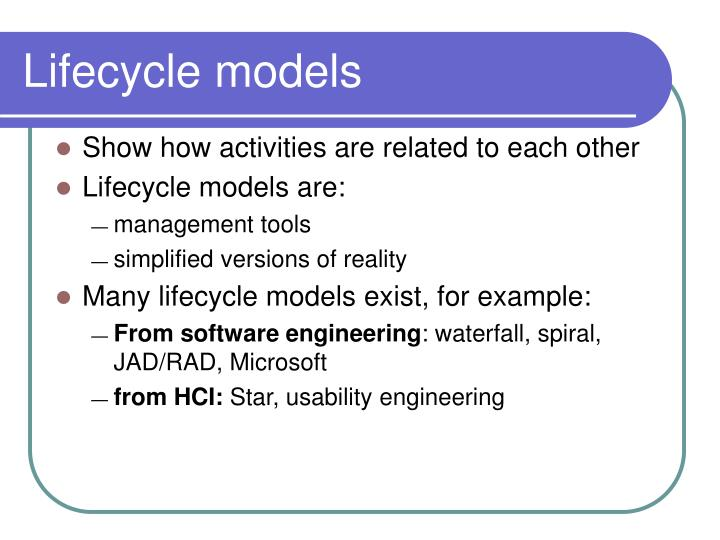 Lifecycle models1