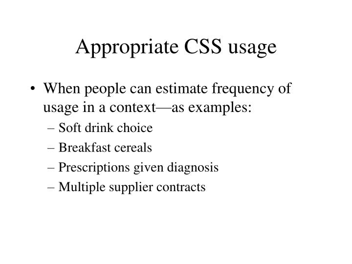 Appropriate CSS usage