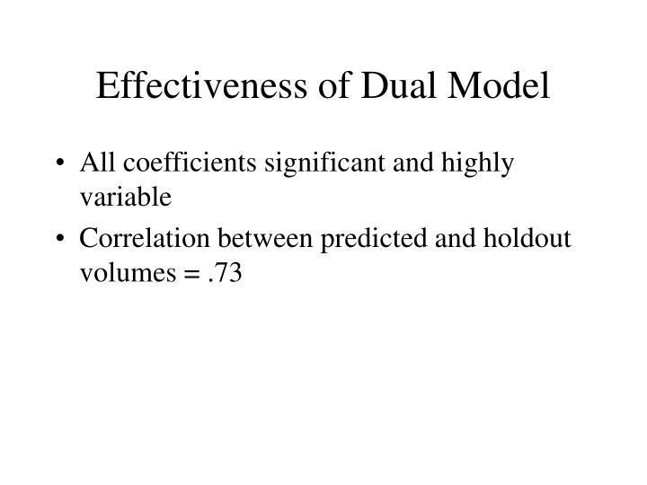 Effectiveness of Dual Model