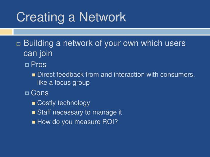 Creating a Network