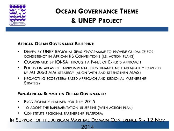 Ocean Governance Theme