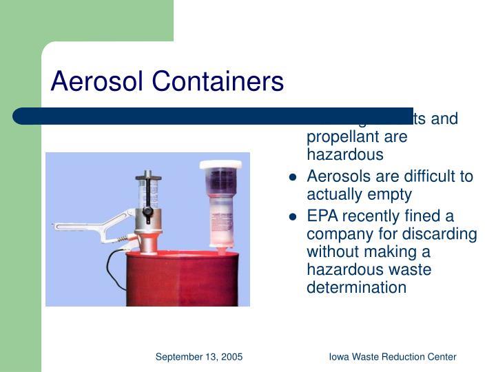 Aerosol Containers