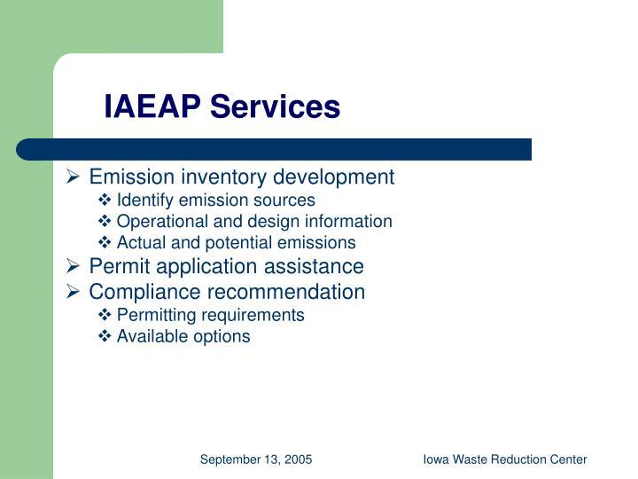 IAEAP Services