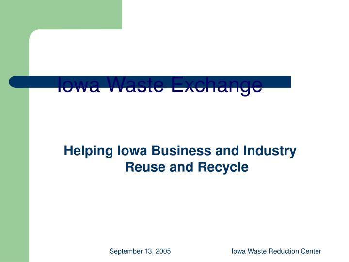 Iowa Waste Exchange