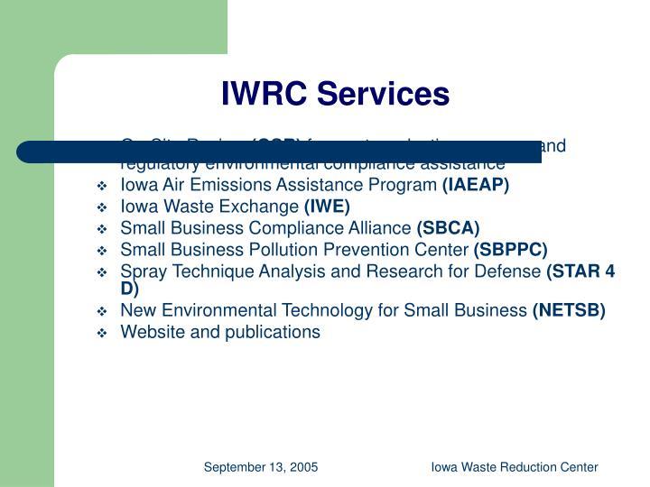 IWRC Services