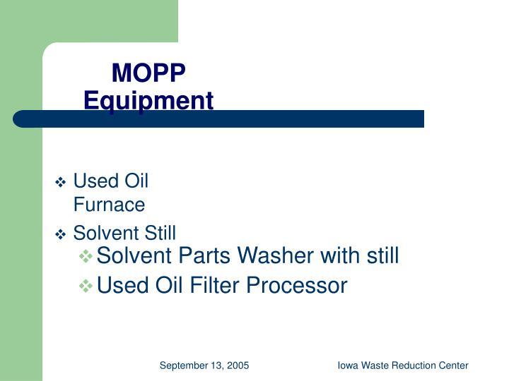 MOPP Equipment
