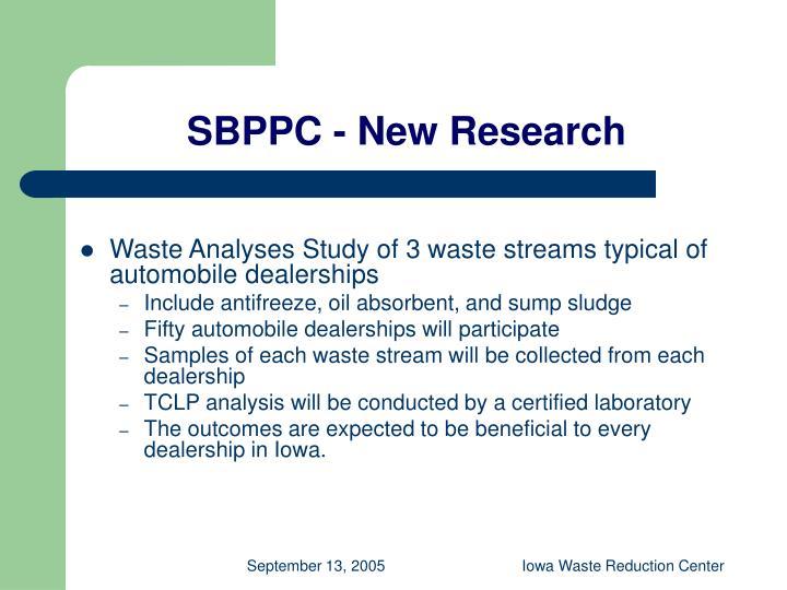 SBPPC - New Research