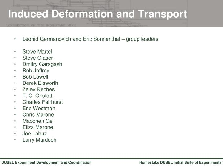 Induced Deformation and Transport