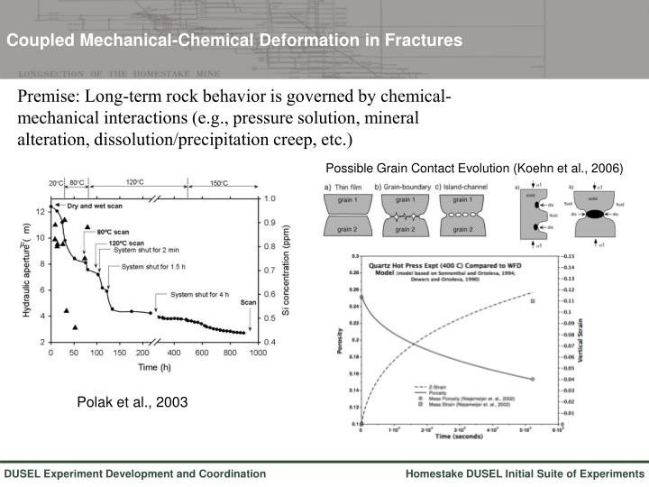 Coupled Mechanical-Chemical Deformation in Fractures