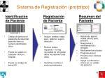 sistema de registraci n prototipo
