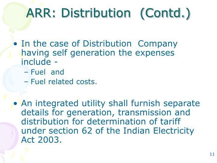 ARR: Distribution  (Contd.)