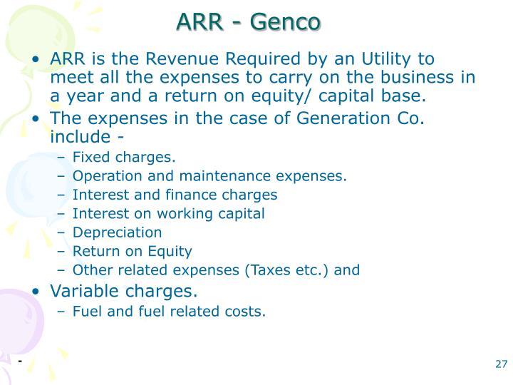 ARR - Genco