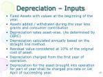 depreciation inputs