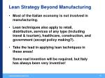 lean strategy beyond manufacturing