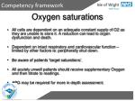 oxygen saturations