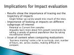 implications for impact evaluation