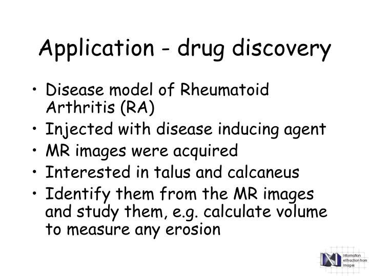 Application - drug discovery