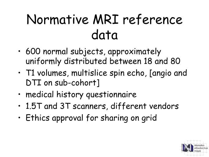 Normative MRI reference data