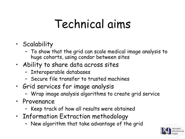 Technical aims