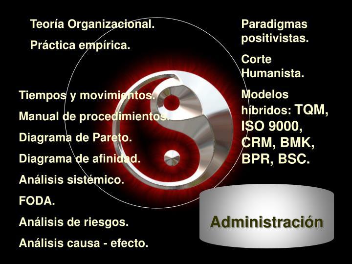Teoría Organizacional.