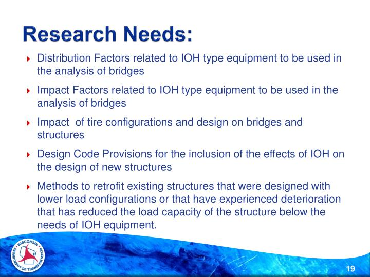 Research Needs:
