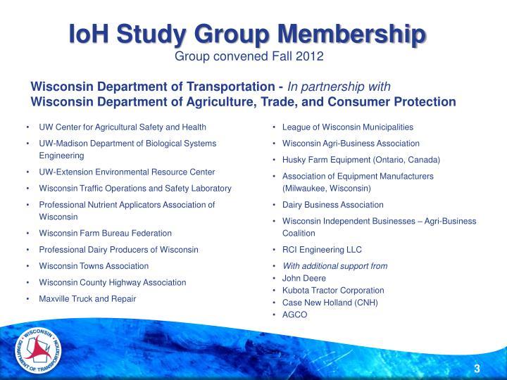 IoH Study Group Membership