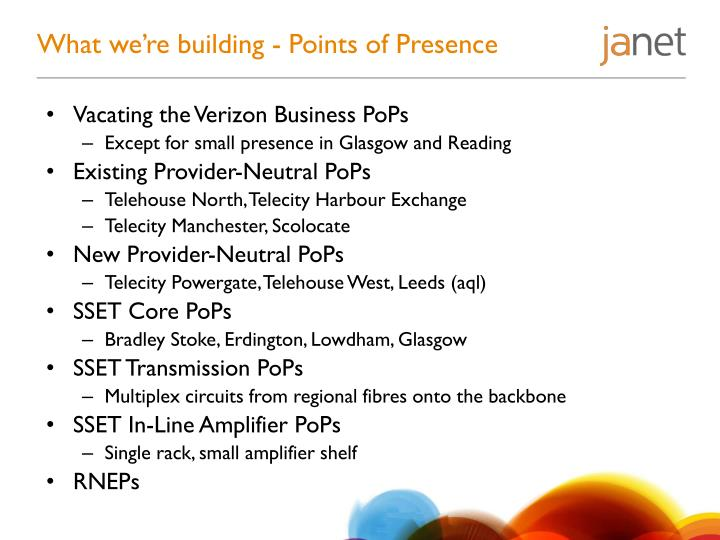 What we're building - Points of Presence