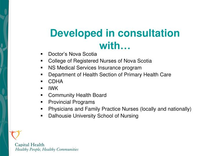 Developed in consultation with…