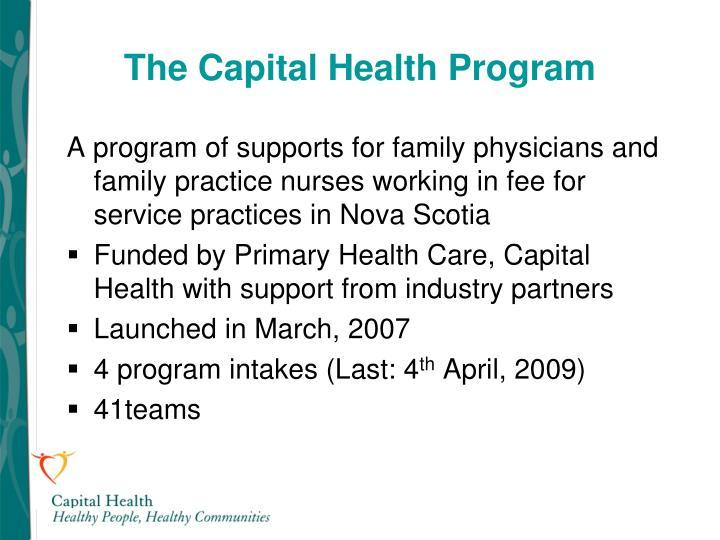 The Capital Health Program