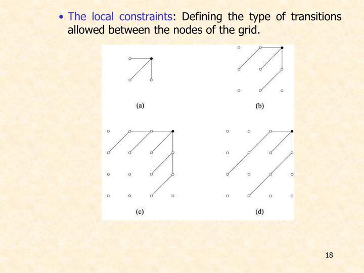 The local constraints