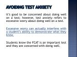 avoiding test anxiety
