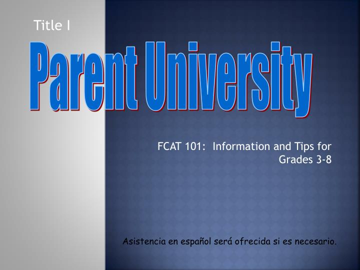 fcat 101 information and tips for grades 3 8