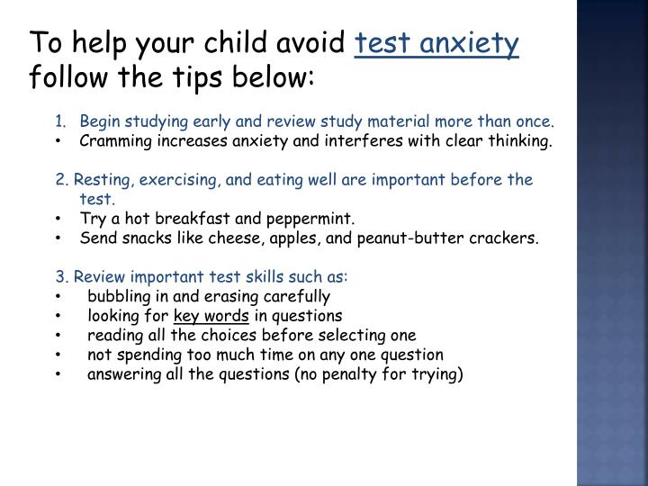 To help your child avoid