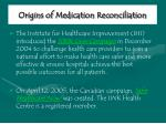 origins of medication reconciliation