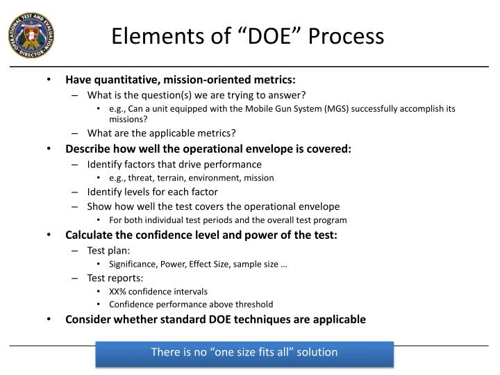 "Elements of ""DOE"" Process"
