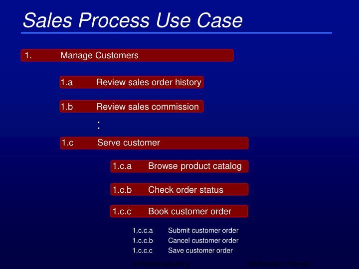 Sales Process Use Case