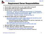 requirement owner responsibilities