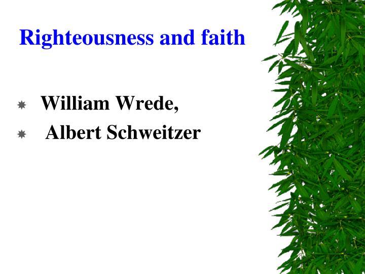 Righteousness and faith