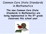 common core state standards in mathematics